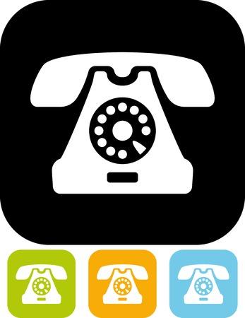 Retro telephone - Vector illustration isolated