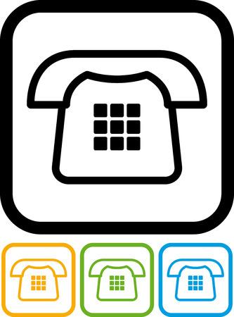 Landline phone vector