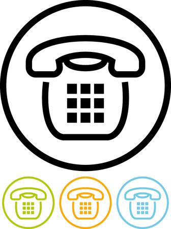 Vector landline phone