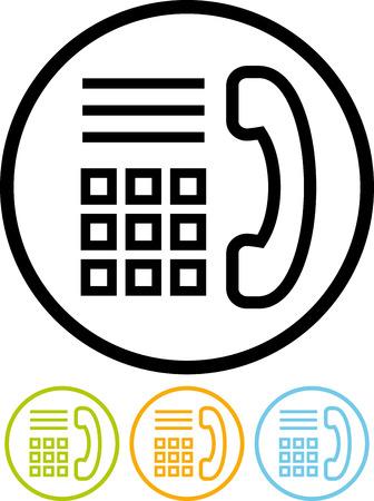 Vector pictogram geïsoleerd op wit - Phone