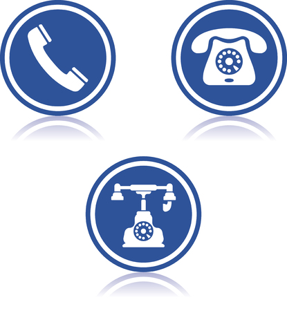 Landline Telephone vector icons Çizim