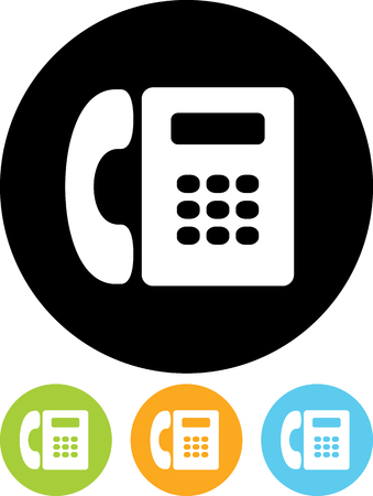 Landline Telephone - Vector icon isolated Illustration