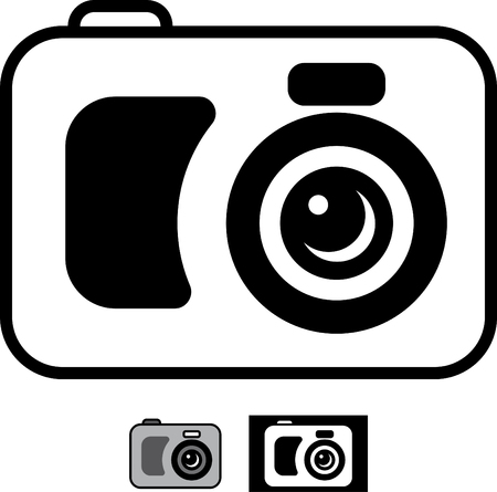 Photo camera vector icon Ilustracja