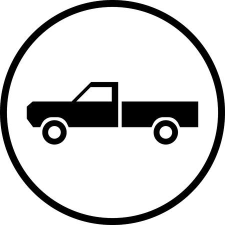 Pickup truck vector icon