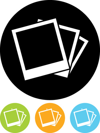 Polaroid photographs pictures - Vector icon isolated Ilustracja