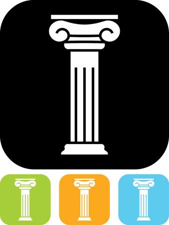 Antieke kolompijler - Vector pictogram geïsoleerde Vector Illustratie