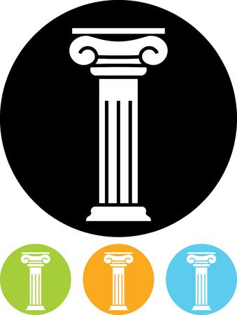 Antieke kolompijler - Vector pictogram geïsoleerde