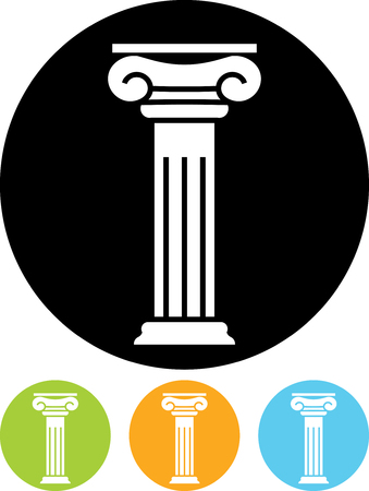 Antique column pillar - Vector icon isolated