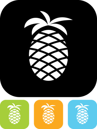 Pineapple - Vector icon isolated