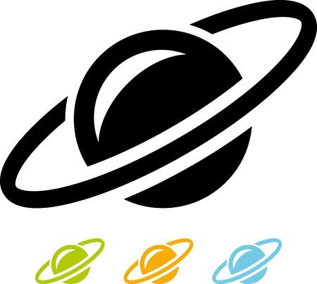 Vector icon isolated - Space satellite orbit