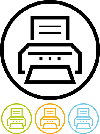 Vector printer icon Ilustracja