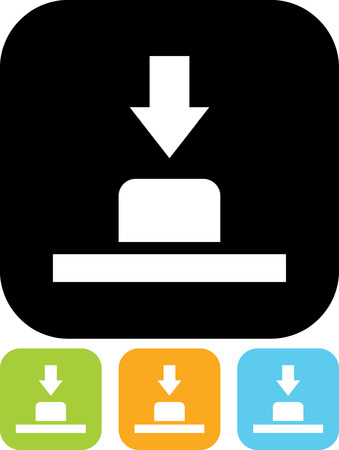 Push button - Vector icon isolated