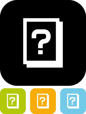 Informatie bulletin - geïsoleerd Vector pictogram