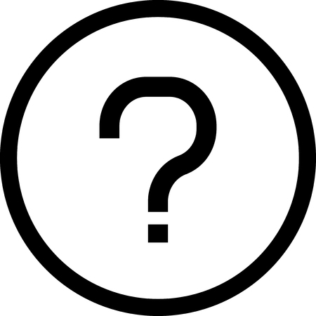 Question mark - Vector icon isolated