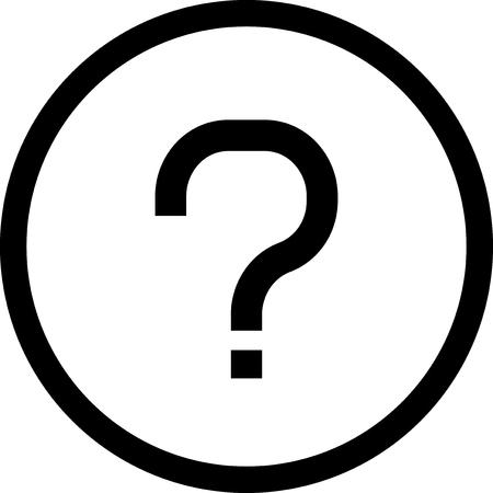 Vraagteken - Vector pictogram geïsoleerde Stock Illustratie