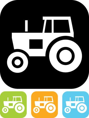 Tracteur vecteur icône Banque d'images - 52955289