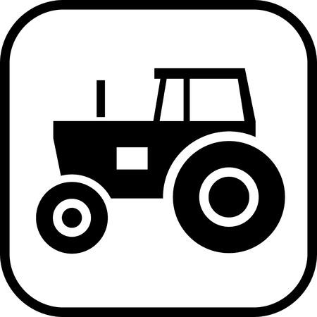 Tracteur vecteur icône Banque d'images - 52955291