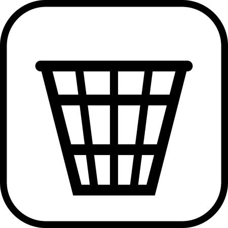 Trash bin recycle vector icon