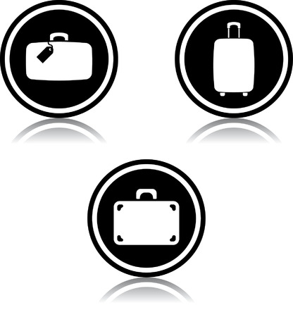 Travel bag suitcases luggage vector icons 版權商用圖片 - 52955353