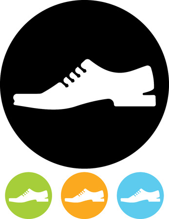 Man shoes vector icon