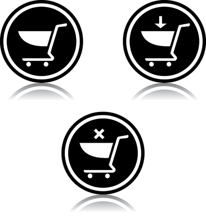 Shopping carts vector icon