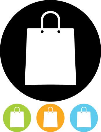 Shopping paper bag vector icon