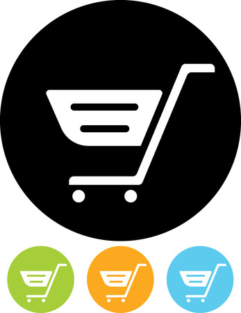 Vector icon - Shopping cart Banco de Imagens - 52955366