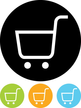 Vector icon isolated - Empty shopping cart