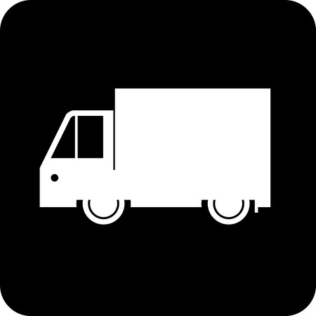Delivery track shipping van vector icon Illustration