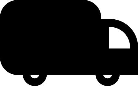Delivery track van vector icon Ilustração