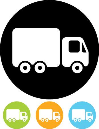 Bestelwagen vector pictogram Stock Illustratie