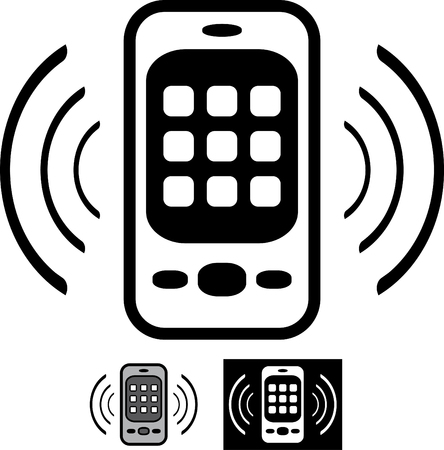 Mobile phone ringing vector icon