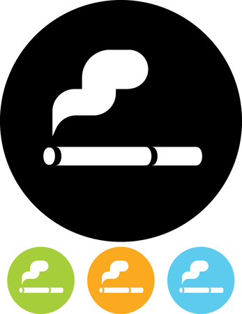 Cigarette smoke - Vector icon