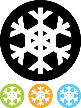 Snowflake - Vector icon isolated Çizim