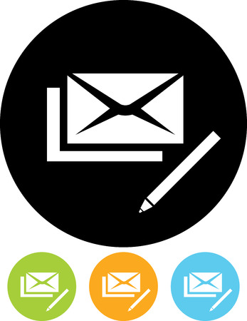 Vector mail correspondence write us icon Illustration