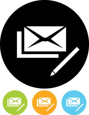 Vector mail correspondence write us icon Иллюстрация