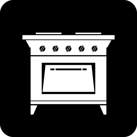 Gas kitchen stove - Vector icon isolated 矢量图像