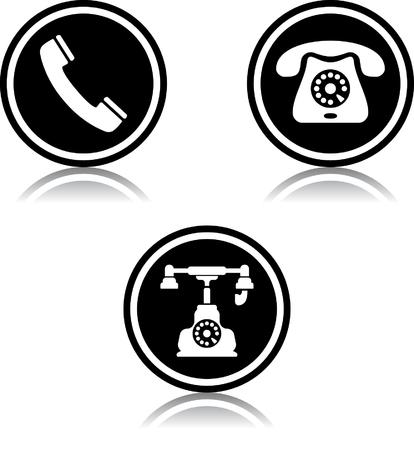 전화 전화는 우리에게 벡터 아이콘 문의