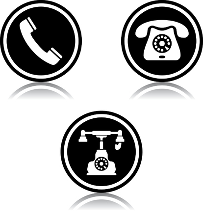 Phone telephone contact us vector icon
