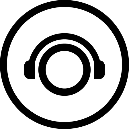 Person in headphones - Vector icon isolated Illusztráció