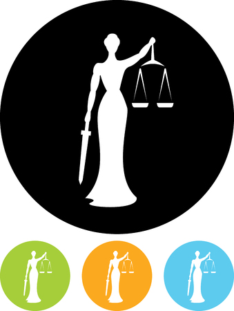 Themis justice vector icon Çizim