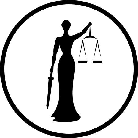 Themis justice vector icon 向量圖像