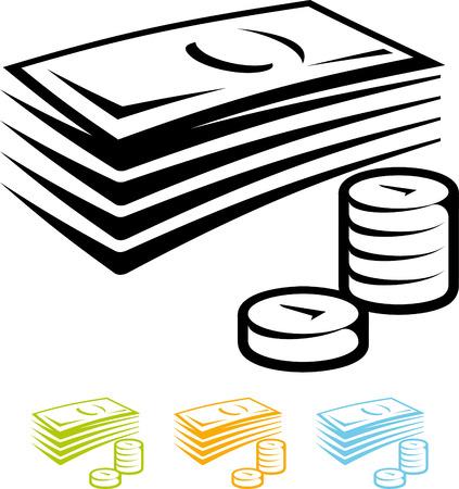 Contant geld vector pictogram