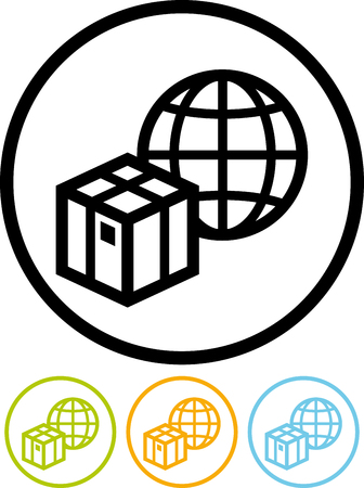 Worldwide shipping - Vector icon isolated on white