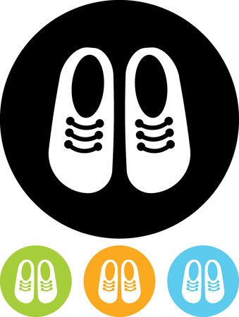 Childrens shoes - Vector icon isolated