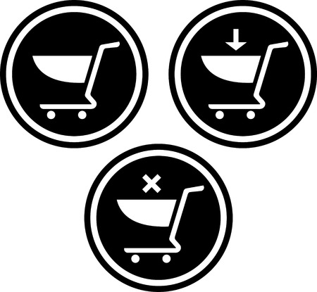 Shopping carts vector icons Illustration
