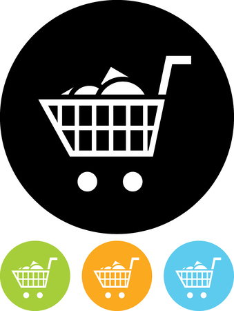 Vector icon isolated - Shopping cart full