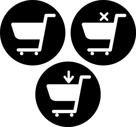 Vector shopping carts icons Banco de Imagens - 52955826