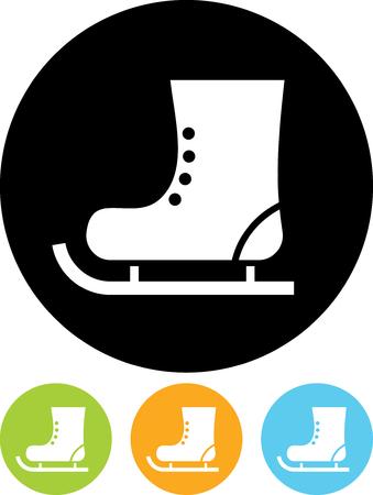 Vector-Symbol isoliert auf weiß - Skate