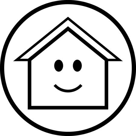 Happy House - Vector icon isolated